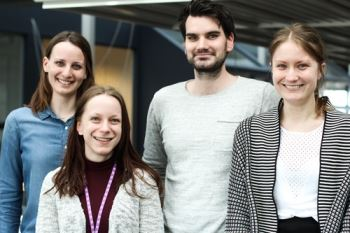 2016 IFS Interns | Therese Ekstrand, Maria Jonsson, Jeff Råsten, Emma Torberntsson (from left to right)